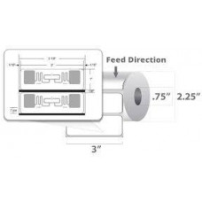 ZEBRA Label RFID Polypropylene,76.2x25.4mm;DT,PolyPro 4000D,High Perf. Coated,All-Temp Adhesive