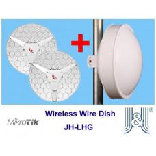 MIKROTIK KitLHGRad Wireless Wire Dish + Radomové zakrytování JH-LHG