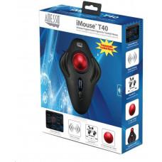 Spire ADESSO myš iMouse T40, bezdrátová, optická, trackball, černá