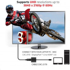 Club 3D Club3D Adaptér aktivní mini DisplayPort 1.2 na HDMI 2.0 4K60Hz UHD, (M/F), 20cm