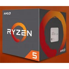 AMD CPU AMD RYZEN 5 1600, 6-core, 3.2 GHz (3.6 GHz Turbo), 16MB cache, 65W, socket AM4 (Wraith