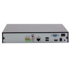 Uniview NVR, 4 kanály, H.265, 1x HDD, 8Mpix (40Mbps/64Mbps), HDMI, VGA, 3x USB 2.0, audio