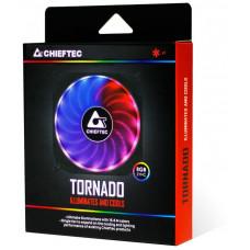 Chieftec duhový větrák TORNADO CF-1225RGB s 6-pinovým konektorem pro  GR-01B/CF-3012-RGB
