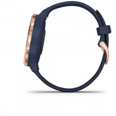 Garmin monitorovací náramek a hodinky vivomove3S Sport, růž.zlaté/modrý řemínek