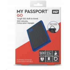 SanDisk externí SSD 500GB My Passport Go, USB 3.0 modrá