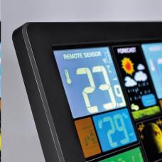 Solight TE81 meteostanice, extra velký barevný LCD, teplota, vlhkost, tlak, RCC, USB nabíjení