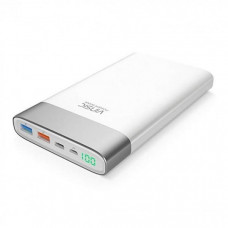 Vinsic QC 3.0 Quick Charge Power Bank 20000mAh White
