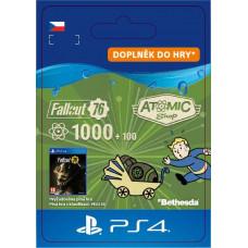 SONY ESD ESD CZ PS4 - Fallout 76: 1000 (+100 Bonus) Atoms