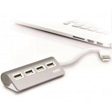 PORT DESIGNS PORT CONNECT USB HUB, 4x USB 2.0, šedý