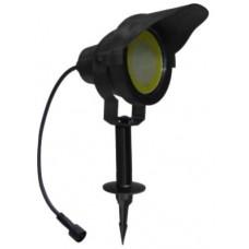 svítidlo LED 10W,850lm,MR30,IP67,3000K,teplé,Al ČER+stínítko,zapichovací