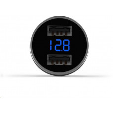 Mcdodo 5V 3.4A LED digital display Dual USB Ports car charger Silver