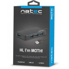 NATEC Moth rozbočovač 4x USB 3.0 HUB