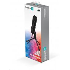 Connect IT YouMic mikrofon USB, pozlacený konektor USB, černá
