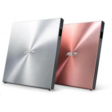 Asus DVD SDRW-08U5S-U/SIL/G/AS, External Slim DVD-RW, silver, USB + Cyberlink Power2Go 8