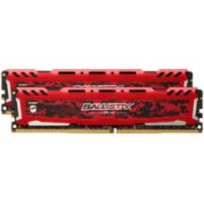CRUCIAL 16GB  DDR4 2400MHz Crucial Ballistix Sport LT CL16 SR 2x8GB Red