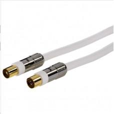 Hama anténny kábel 120 dB, 1,5 m, pozlátený, feritové filtre, opletený, kovové vidlice
