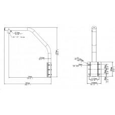 Uniview Adaptér typu labutí krk/parapetní držák pro montáž kamery na zeď TR-WE45-B-IN