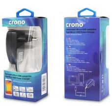 Crono univerzální USB nabíječka, micro USB, 2100 mA, černá