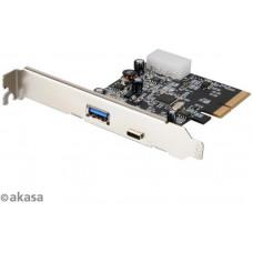 AKASA PCIex USB 3.1 karta