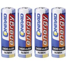 Conrad energy, NiMH, AA, 2400 mAh, 4 ks