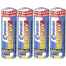 Conrad energy, NiMH, AA, 2600 mAh, 4 ks