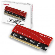 AXAGO  PCEM2-S, PCIe x16 - M.2 NVMe M-key slot adaptér, + pasivní chladič