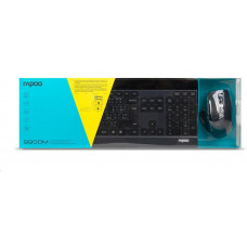 Rapoo set klávesnice a myš 9900M multi-mode bezdrátový ultra-slim CZ/SK, černá