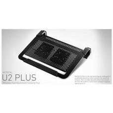 COOLER MASTER chladicí ALU podstavec Cooler Master NotePal U2 PLUS pro NTB 12-17'' black, 2x8cm fan