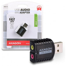 AXAGO  ADA-10, USB2.0 - stereo audio MINI adaptér