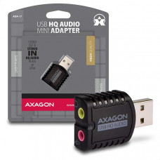 AXAGO  ADA-17, USB2.0 - stereo HQ audio MINI adaptér, 24-bit/96kHz