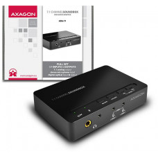 AXAGO  ADA-71, USB2.0 - 7.1 audio SOUNDbox, SPDIF vstup/výstup