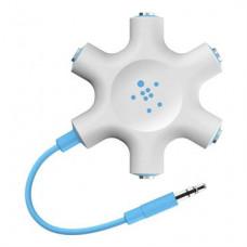 BELKIN RockStar sluchátkový rozdělovač, 5 portů, modrý