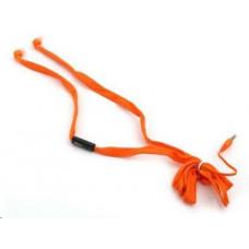 Speedlink PLATINET sluchátka Shoelace Wired Handsfree, 3,5mm jack, oranžová
