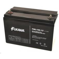 FUKAWA Baterie - FUKAWA FWL 100-12 (12V/100Ah - M8), životnost 10let