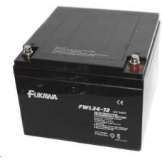FUKAWA Baterie - FUKAWA FWL 24-12 (12V/24 Ah - M5), životnost 10let