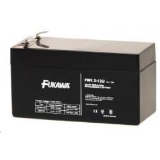 FUKAWA Baterie - FUKAWA FW 1,2-12 U (12V/1,2Ah - Faston 187), životnost 5let
