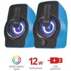 TRUST repro TRUST Gemi RGB 2.0 Speaker Set - blue