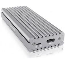 RAIDSONIC ICY BOX IB-1817MA-C31 stříbrná, externí USB-C box pro M.2 NVMe SSD, stříbrná