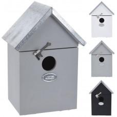 budka ptačí zahnizďovací 14x10x20cm dřevěná mix