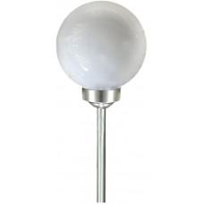 lampa solární KOULE 15cm v.47cm, 2LED BÍ
