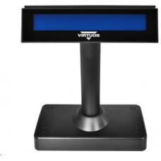 Virtuos oboustranný LCD zákaz. displej Virtuos FL-730MB 2x20, serial, černý