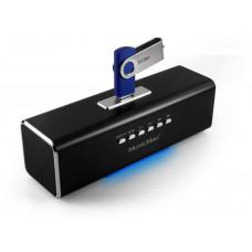 TECHNOSONIC Technaxx MusicMan, baterie 600 mAh, FM, USB, černý