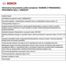 Bosch SMS46GI01E MYČKA NÁDOBÍ 60CM