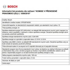 Bosch SPS25FW03E volně stojící myčka 45 cm