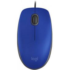 LOGITECH myš Logitech M110 Silent - BLUE - USB