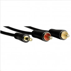 Hama audio kabel jack - 2 cinch, pozlacený, 3*, 1,5 m