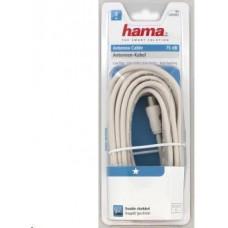 Hama anténní kabel 75dB, bílý, 5m