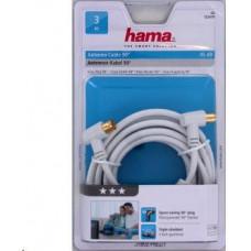 Hama anténní kabel vidlice-zásuvka, kolmé konektory, 95 dB, 3*, 3 m