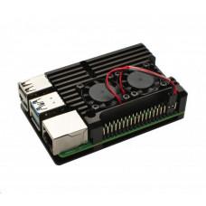 Raspberry Chladicí sada s větráky pro Raspberry Pi 4B, černá