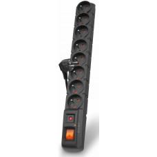 PREMIUMCORD Acar S8 3m kabel, 8 zásuvek, přepěťová ochrana, černá